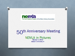 50 th Anniversary Meeting