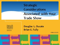 Strategic Considerations Associated with Your Trade Show