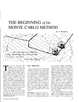 THE BEGINNING of the MONTE CARLO METHOD by N