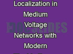 Compensated and Isolated Starpoint Grounding  Fault Localization in Medium Voltage Networks with Modern Electric Power Systems  Wroclaw Poland MEPS  paper