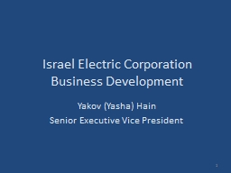 Israel Electric Corporation PowerPoint PPT Presentation