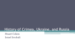 History of Crimea, Ukraine, and Russia