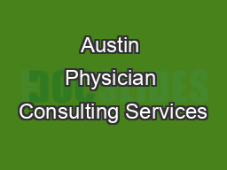 Austin Physician Consulting Services
