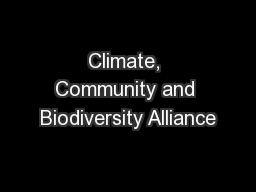Climate, Community and Biodiversity Alliance