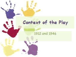 Context of the Play