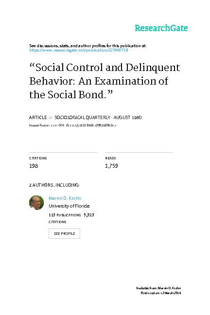 Control and the Elements the Social research examines the the elements