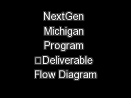 NextGen Michigan Program –Deliverable Flow Diagram