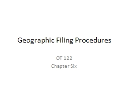 Geographic Filing Procedures