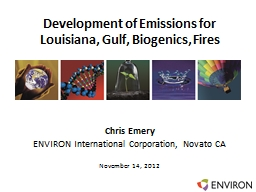 Development of Emissions for