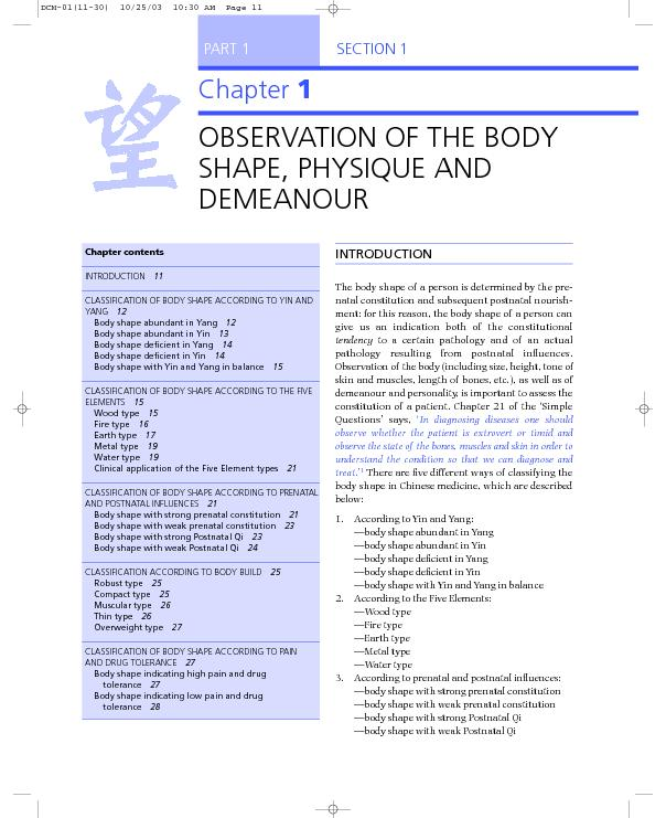 The body shape ofa person is determined by the pre-natal constitution