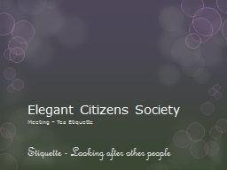 Elegant Citizens Society