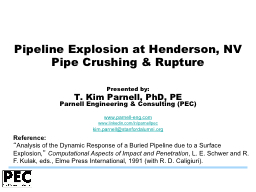 Pipeline Explosion at Henderson, NV