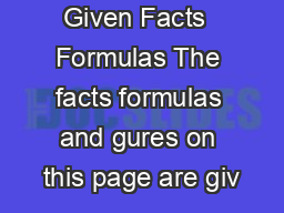 SAT Math Given Facts  Formulas The facts formulas and gures on this page are giv