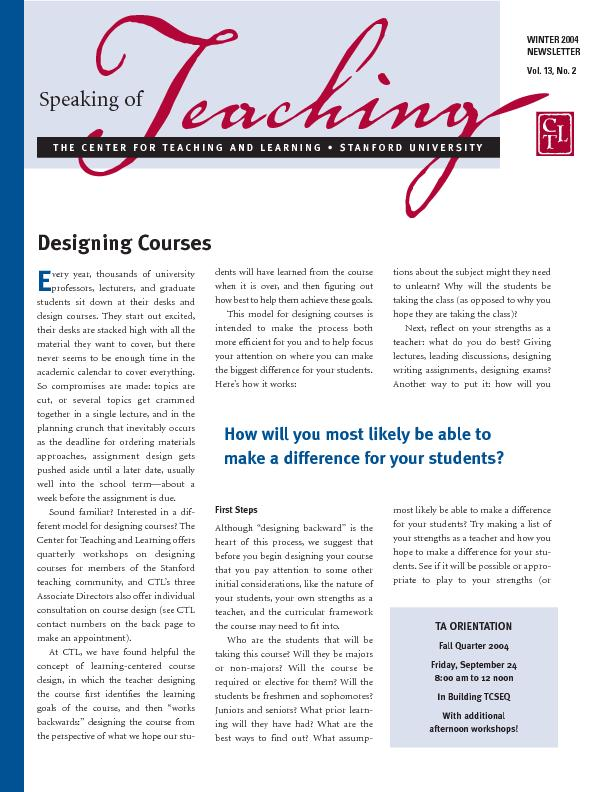 THECENTER FOR TEACHING AND LEARNING  PDF document - DocSlides