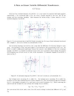 A Note on Linear Variable Dierential Transformers R