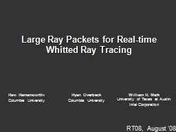 Large Ray Packets for Real-time