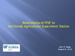 Relationship of FFSP to