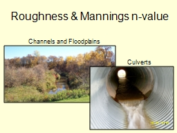 Roughness & Mannings n-value