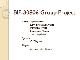 BIF-30806 Group Project