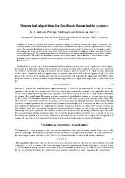 Numerical algorithm for feedback linearizable systems S