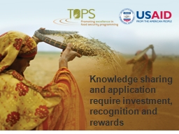 Knowledge sharing and application require investment, recog