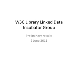 W3C Library Linked Data