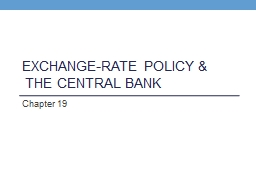 Exchange-Rate Policy &