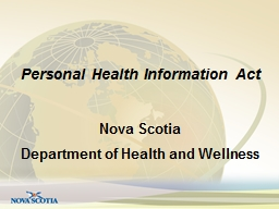 Personal Health Information Act