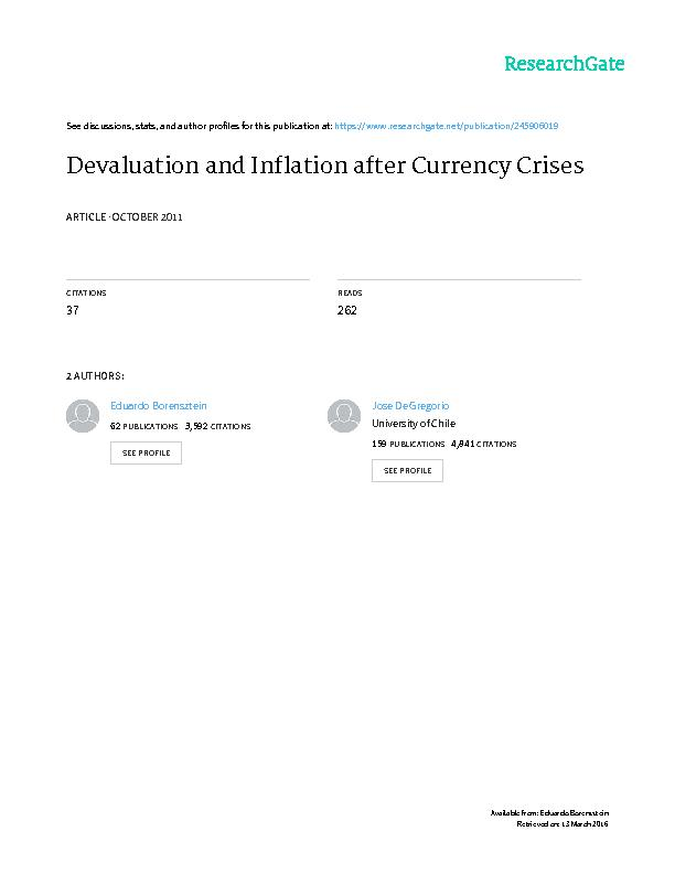 DEVALUATION AND INFLATION AFTER CURRENCY C        Eduardo Borensztein