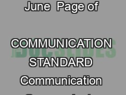 KLRVHZHDUQLQJWDQGDUGVRUO d Languages Grades   Ohio Department of Education June  Page of  COMMUNICATION STANDARD Communication Communicate in languages other than English  both in person and via tech