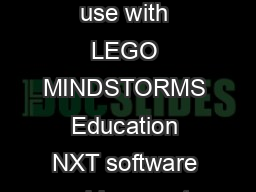 RO BOT Reference Thresholds Carnegie Mellon Robotics Academy  For use with LEGO MINDSTORMS Education NXT software and base set  If you look at this image it shows an NXT using an Ultrasonic sensor