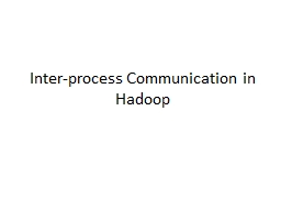 Inter-process Communication in