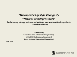 �Therapeutic Lifestyle Changes�/