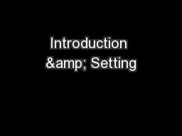 Introduction & Setting