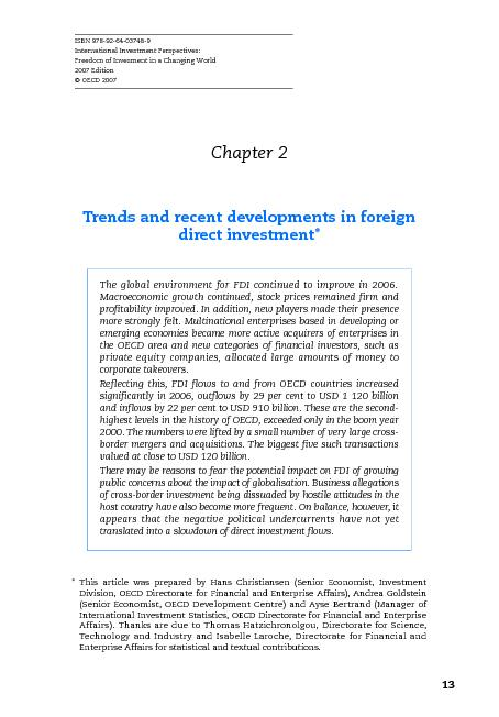 ISBN 978-92-64-03748-9International Investment Perspectives:Freedom of