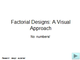 Factorial Designs: A Visual Approach PowerPoint PPT Presentation