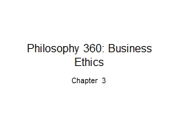 Philosophy 360: Business Ethics PowerPoint PPT Presentation