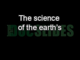 The science of the earth�s