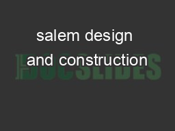 salem design and construction