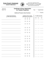 Certificate of Error Application for Taxable Properties Appeal Number Town DO NOT USE this form if you are requesting a Certificate of Error CE for a Homeowner Exemption Senior Exemption Senior Freez