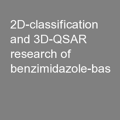 2D-classification and 3D-QSAR research of benzimidazole-bas
