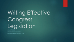 Writing Effective Congress Legislation