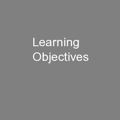 Learning Objectives PowerPoint Presentation, PPT - DocSlides