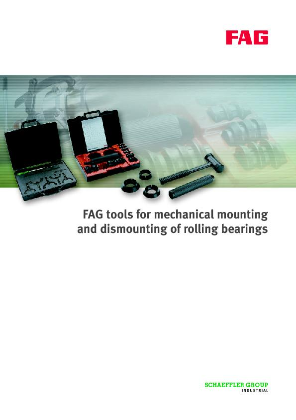 FAG tools for mechanical mountingand dismounting of rolling bearings . PowerPoint PPT Presentation
