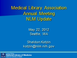 Medical Library Association Annual Meeting