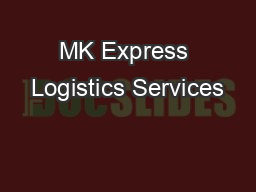 MK Express Logistics Services