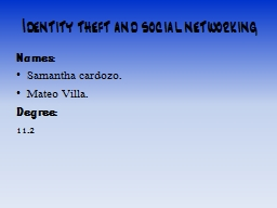 Identity theft and social networking