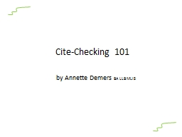Cite-Checking 101 PowerPoint Presentation, PPT - DocSlides