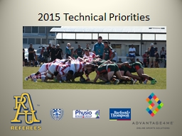 2015 Technical Priorities