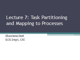 Lecture 7: Task
